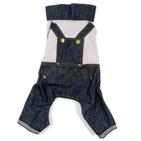 Denim Jeans Dog Clothes-Size 12
