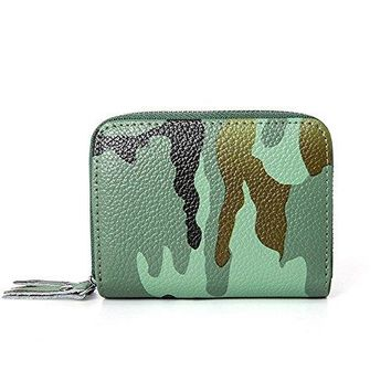 RFID blocking wallets leather Camouflage style womens rfid wallet