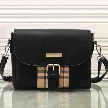 Perfect Burberry Women Fashion Leather Satchel Tote Shoulder Bag Crossbody