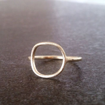 SALE! Open Circle ring, Minimal ring, Gold filled ring, Stacking ring,simple ring,bridal jewelry