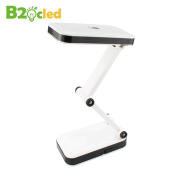 Modern Foldable and Adjustable Desk Lamps Rechargeable led Table Lamp With 24 LED For Bedroom white light Reading Charge lamp