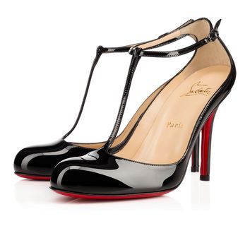 COLCOTTA PATENT, BLACK, Patent, Women Shoes, Louboutin.