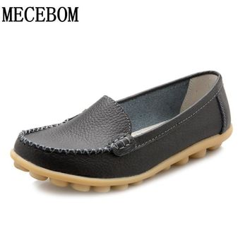 New Leather Women Flats Moccasins Loafers Wild Driving women Casual Shoes Leisure Concise Flat In 7 Colors footwear 918W