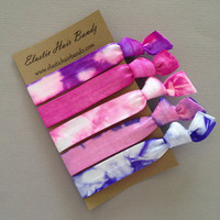 The Molly Hair Tie Collection - 5 Elastic Hair Ties by Elastic Hair Bandz on Etsy