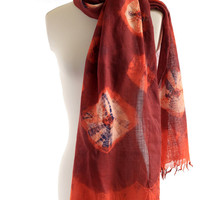 burgundy merino wool scarf, madder logwood dyed, shibori tie dyed, fine wool shawl woven, naturally dyed shawl wool wrap maroon purple
