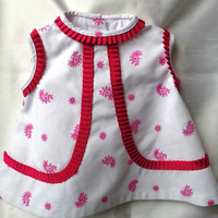 Baby girl dress embroidered , baby dress white pique , baby dress pink , baby dress blue ,3 months baby dresses , children exclusive dress