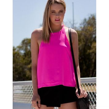 Hot Pink Halter Top