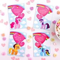 Valentine Cards, Editable Valentine PDF, Personalized Valentine, Little Pony Valentine Printable, Class Valentines, Edit with Adobe Reader