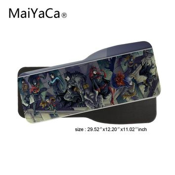 Batman Dark Knight gift Christmas MaiYaCa Batman Cast Comic Game Speed Keyboard Mouse Pad Rubber Mat Computer Gaming Mousepad Gamer for Large Size Table Mouse Mat AT_71_6