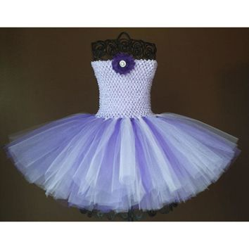 Lavender purple and lilac Tutu Dress baby tutu dress Birthday flower girl tulle,ballerina photo prop costume infant