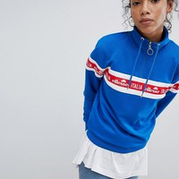 Ellesse Italia Oversized Sweatshirt With Italia Logo And Half Zip at asos.com
