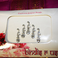 Original Long Silver Bindis. Pretty Fancy Bindi collection.