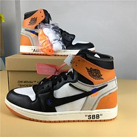 Air Jordan 1 x Off-White AA3834 005 Sneaker Shoe