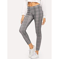 Grey Plaid Legging