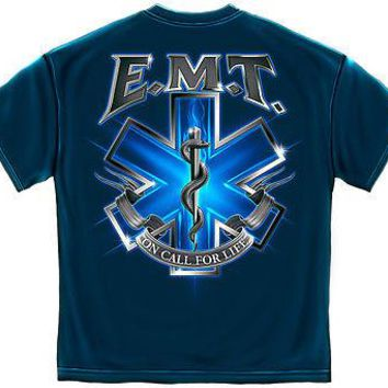 New EMERGENCY MEDICAL TECHNICIAN -  ON  FOR LIFE EMT  T SHIRT