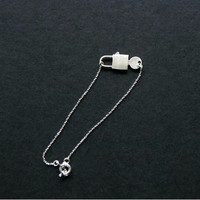 Key with Lock Charm Bracelet in Gold / Silver(925 sterling silver / pl
