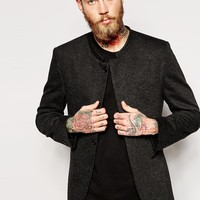 ASOS Slim Fit Blazer In Jersey With Mandarin Collar