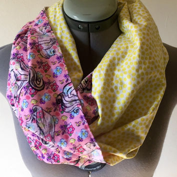Disney Princess Floral Infinity Scarf, Rapunzel, Aurora, Belle, Sleeping Beauty, Beauty &the Beast, Hipster, Fashion Accessory, Disneyland