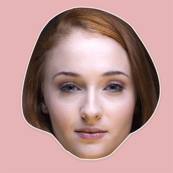 Sad Sophie Turner Mask - Perfect for Halloween, Costume Party Mask, Masquerades, Parties, Festivals, Concerts - Jumbo Size Waterproof Laminated Mask