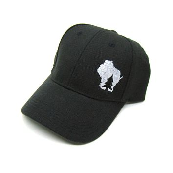Wisconsin Hat - Black Hemp Snapback  - pine tree in wisconsin silver state