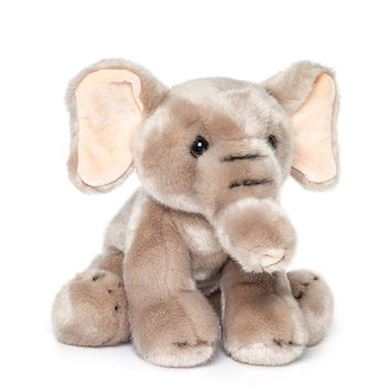 12 Inch Stuffed Elephant Plush Floppy Animal Kingdom Collection