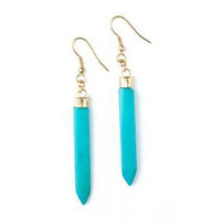 Spike Earrings: Turquoise - India