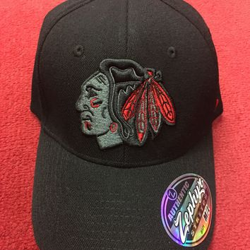 Chicago Blackhawks Zephyr Twilight Wool Flex Fit Hat