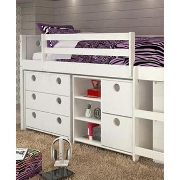 Alyssa Junior Loft Bed with Dressers