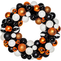 Glitter Halloween Ornament Wreath 20in
