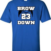 Youth Royal Blue Brow Down Anthony Davis Kentucky Wildcats T-Shirt