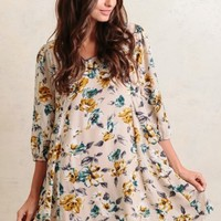 A Friendly Smile Floral Dress