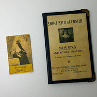 Antique Saint Rita de Cascia Novena and Other Prayers St Rita School for the Deaf Cincinnati Ohio 1930