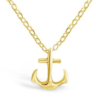 Dainty Anchor Necklace