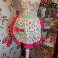 Vintage style Apron Retro 50's Pinny, Free UK delivery!