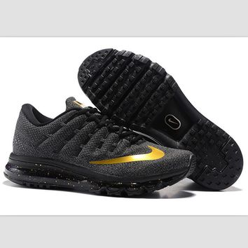 """""""NIKE"""" Trending AirMax Toe Cap hook section knited Fashion Casual Sports Shoes Black g"""
