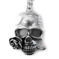 Skull with Rose Necklace [Jewelry]