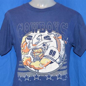 90s Dallas Cowboys #99 Jack Davis Cartoon t-shirt Youth Medium 10-12