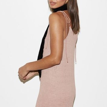 Kendall & Kylie Textured Shoulder Tie Shift Dress at PacSun.com
