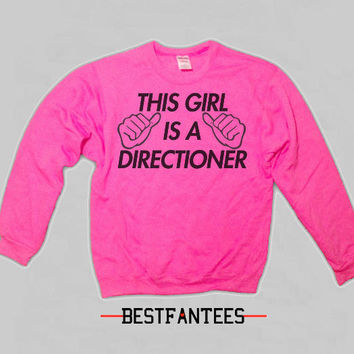 This Girl Is A Directioner Bright Pink Crewneck Sweatshirt 1d 018