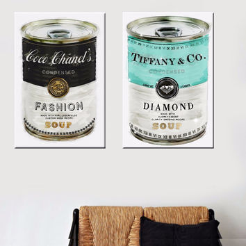 Fashion Soup Canvas Art by Oliver Gal Printed On Canvas Wall Art Prints Picture for Living Room Home Decor frameless