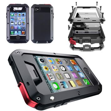 REFUNNEY Full Body Armor for iPhone 4s Rugged Case Tough Shockproof iPhone 4 Heavy Duty Case Coque 4 s Cover Capinha