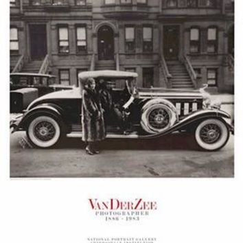 Couple Wearing Raccoon Coats James Van Der Zee Art Print