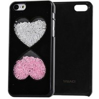 Meaci Apple Iphone 5c Case Glitter Bling Neon Rhinestone Series Protective Case-powder Box (Xxiii)