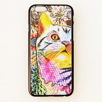 iPhone 6 Plus Case Cat Pattern iPhone 6 Plus Hard Case Watercolor Back Cover For iPhone 6 Slim Design Case