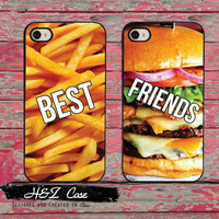 BFF Best Friends Burger and Fries Funny Mobile Phone Cases for iPhone 6 6 plus 5c 5s 5 4 4s Case