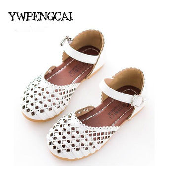 Summer Girls Sandals Korean Cut-outs Princess Baby Toddler Girl Sandals Kids Casual Flat Shoes For Girl