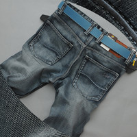 Men Plus Size Pants Jeans [6528600771]