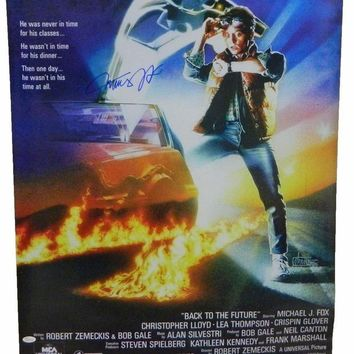 CREYONY Michael J. Fox Signed Autographed 'Back to the Future' 24x36 Movie Poster (JSA COA)