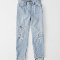 Womens High Rise Girlfriend Jeans | Womens Clearance | Abercrombie.com