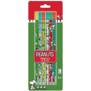 6-Count Peanuts(R) Holiday Pencil - CASE OF 36